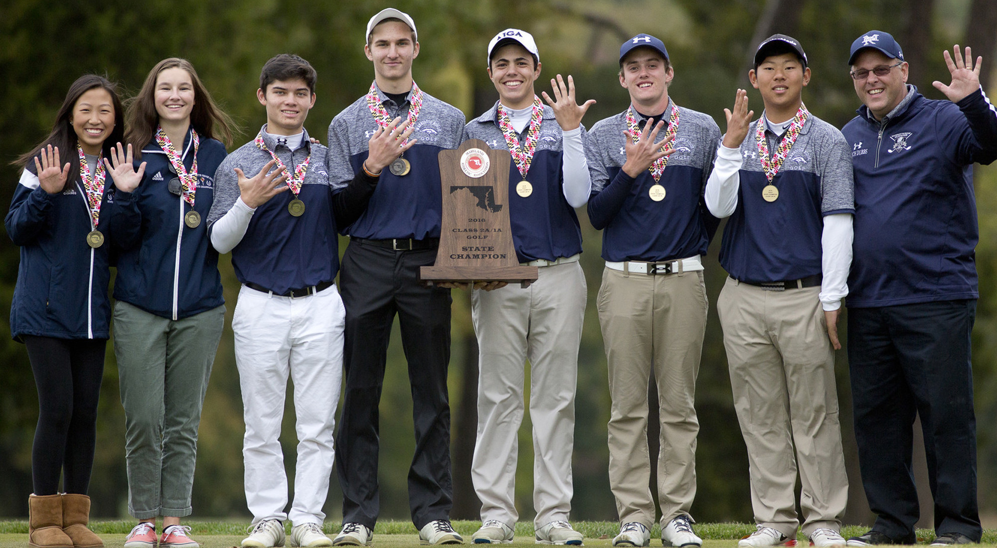 High school golf state champions