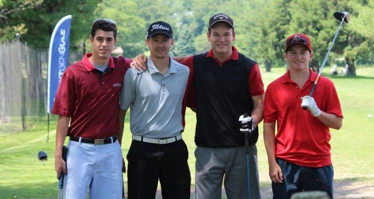 High School Golfers on the Tee