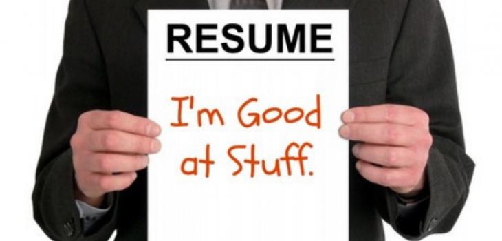 College golf resume