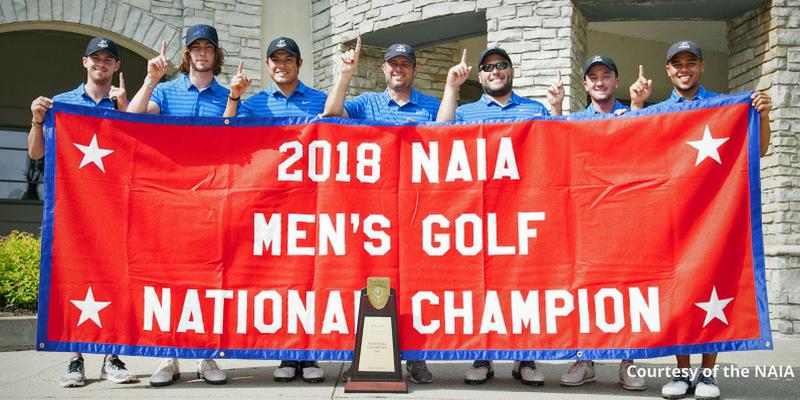 NAIA 2018 golf champions