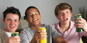 Kids drinking beer