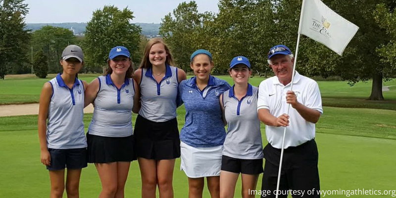 Wyoming cowboys girls golf team