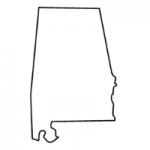 Alabama state outline