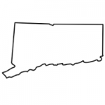 Connecticut state outline