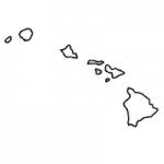Hawaii state outline