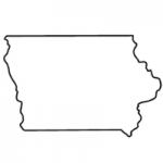 Iowa state outline