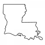 Louisiana state outline
