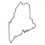 Maine state outline