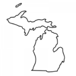 Michigan state outline
