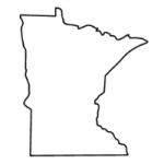 Minnesota state outline