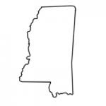 Mississippi state outline