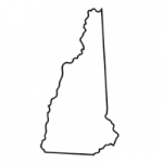 New Hampshire state outline