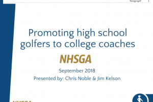 Promoting High School Golfers to College Coaches