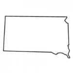 South Dakota state outline