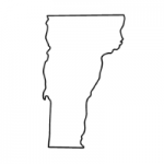 Vermont state outline