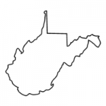 West Virginia state outline
