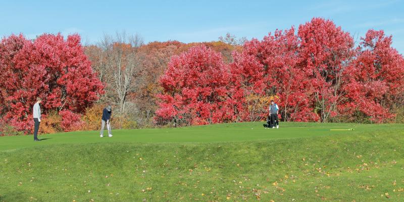 Fall high school golf