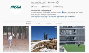 High school golf Instagram accounts
