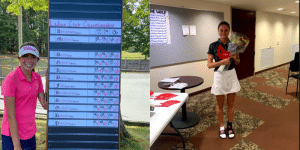 High school club champion golfers competing for a national title
